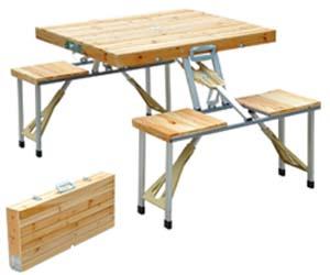 mesa picnic madera