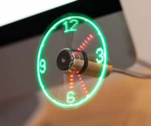 ventilador reloj led