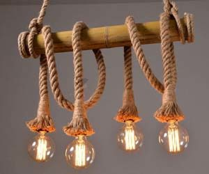 Lámpara de Bambú