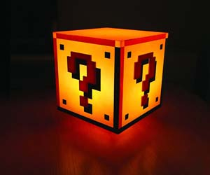 lámpara cubo Super Mario Bros