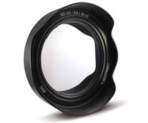 espejo con marco de objetivo fotográfico