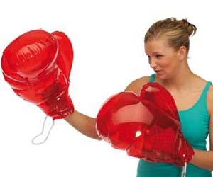guantes de boxeo inflables
