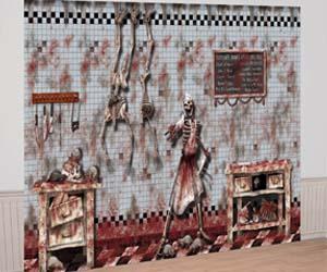 mural, diseño de carnicería terrorífica