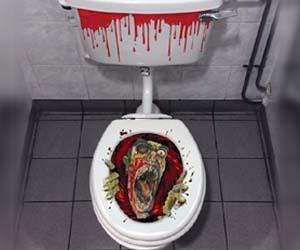 adhesivo zombie para wc