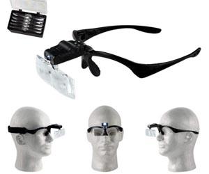 Gafas-Aumento Luz LED