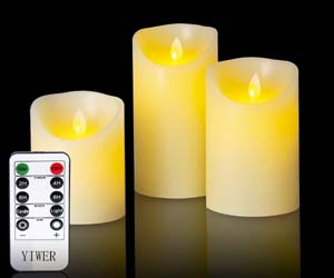 3 Velas LED Sin LLama