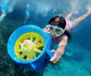 Seascooter Water Scooter eléctrico POOLJET Batería de Iones de Litio para niños