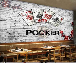 panel decorativo poker