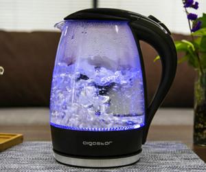 Hervidor de cristal con luz LED