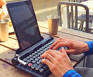 Teclado De Máquina De Escribir, Bluetooth Teclado Mecánico Inalámbrico